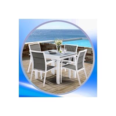 salon de jardin en alumium clic discount. Black Bedroom Furniture Sets. Home Design Ideas