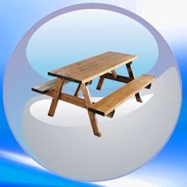 Table picnic en bois pas cher clic discount - Panier picnic pas cher ...