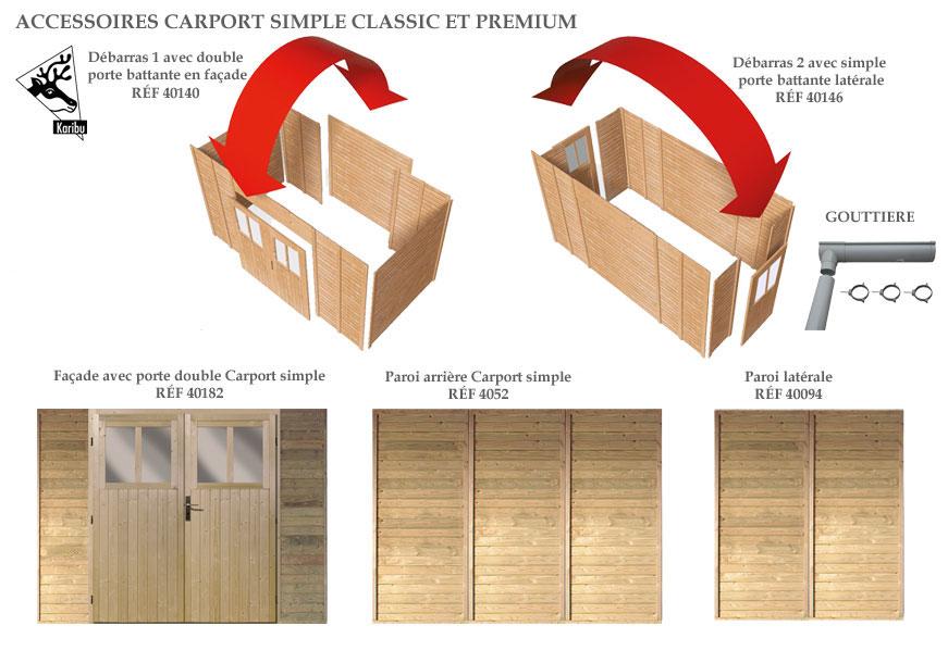 accessoires pour carport Karibu