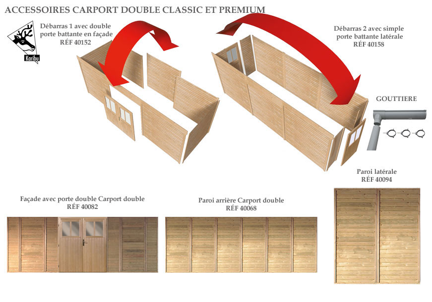 accessoires carport double karibu