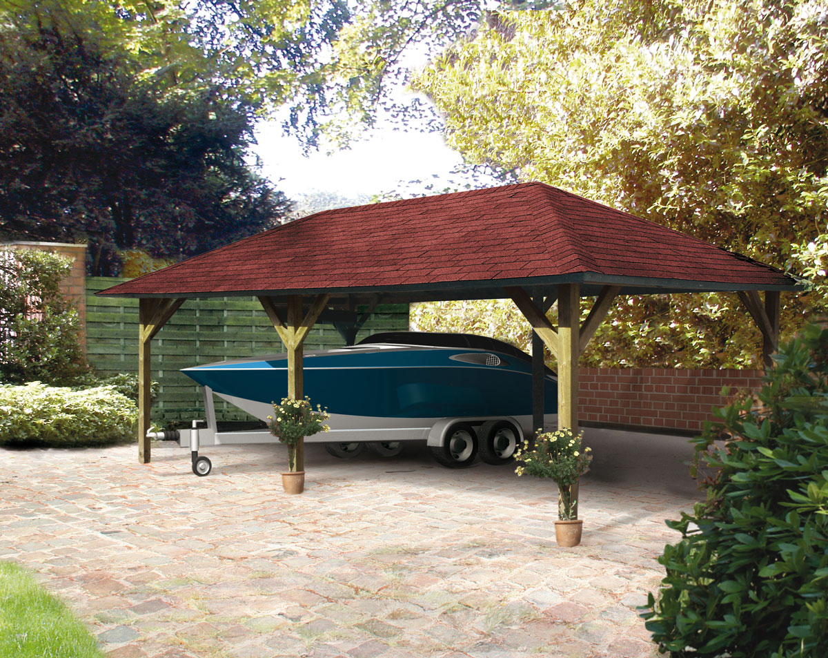 Carport pavillon kirn 3 karibu