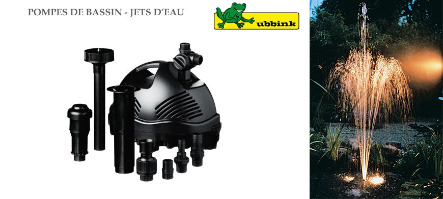 Les pompes Cascademax® équipées de la technique Ubbink ont avant tout été conçues pour être utilisées comme pompes pour cascades et cours d'eau.