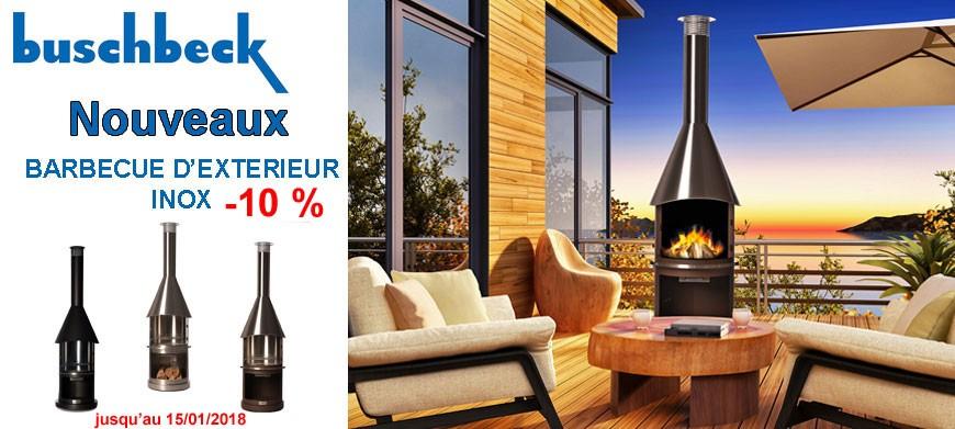 -10% sur la nouvelle gamme de barbecue d'extérieur Buschbeck inox