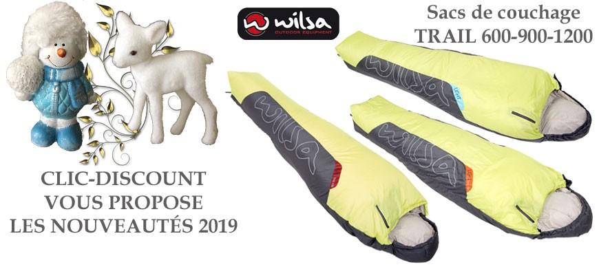 Clic-Discount vous propose la gamme de sac de couchage de la gamme light, de fabrication Française signé Wilsa Outdoor.