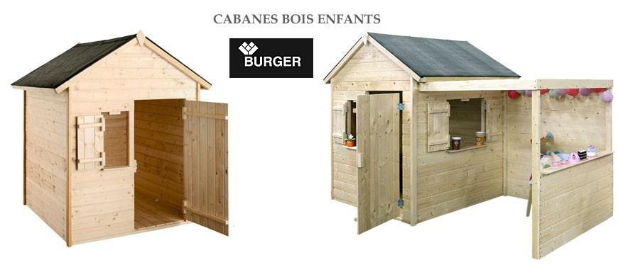 Cabane en bois enfants de la marque Burger jardipolys