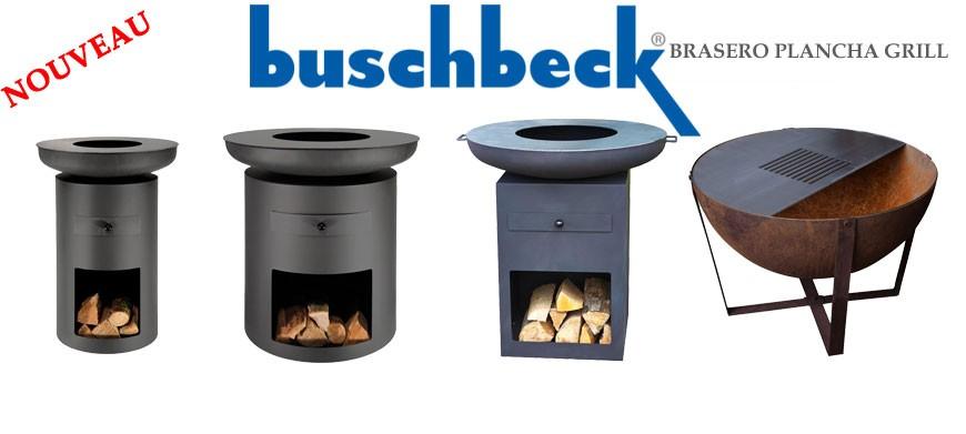 Barbeccue d'extérieur plancha grill Buschbeck