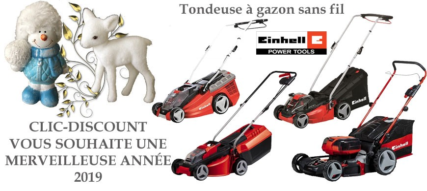 Tondeuse à gazon sans fil : Einhell : Une marque made in Germany