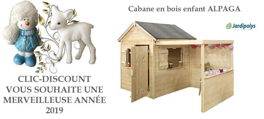 Cabane en bois enfants Alpaga