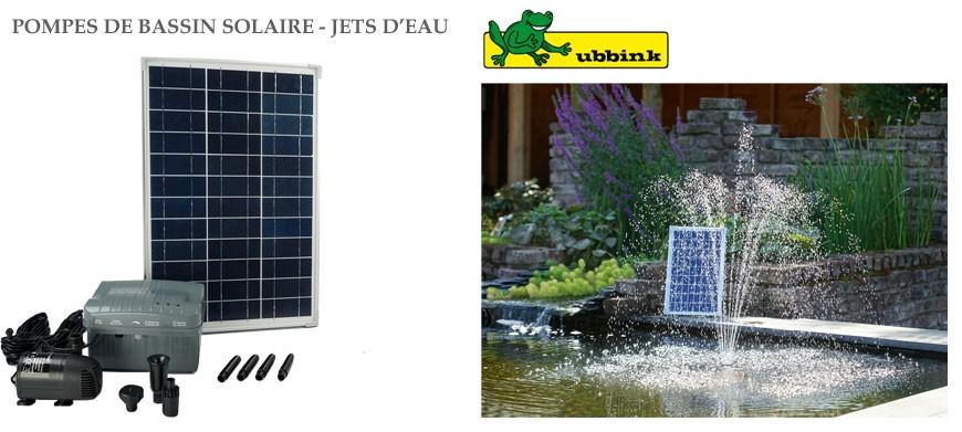 Découvrez toute la gamme de pompe solaire de bassin Ubbink
