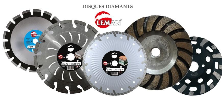 Découvrez toute la gamme des disques diamant de la marque Leman