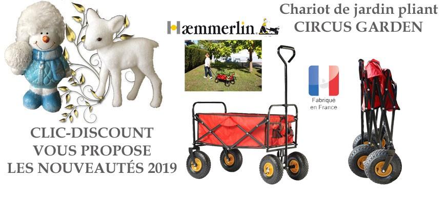 Chariot de jardin pliant, idéal pour transporter sans effort des branchages et feuillages, des pots de fleurs, des bûches, etc.