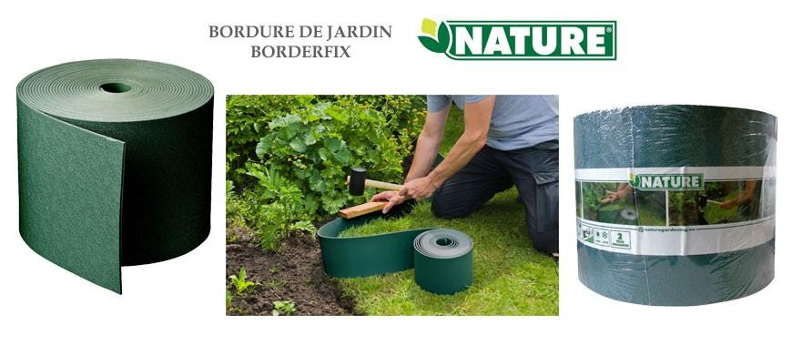 Bordure de jardin en polyéthylène recyclé d'une épaisseur de 3 mm, pour une hauteur de 15 cm, traitées anti-UV.