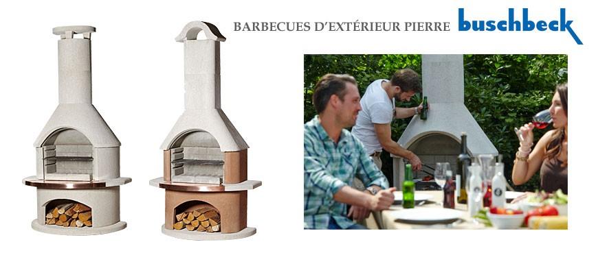 Découvrez toute la gamme des barbecue d'extérieur en pierre de la marque Buschbeck