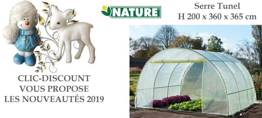 Cette serre de jardin potager est composée de tube aluminium, diamètre 25 mm. Film polyéthylène jaune traité anti-UV d'une densité de 150 g/m2 attachée à l'armature à l'aide de liens.