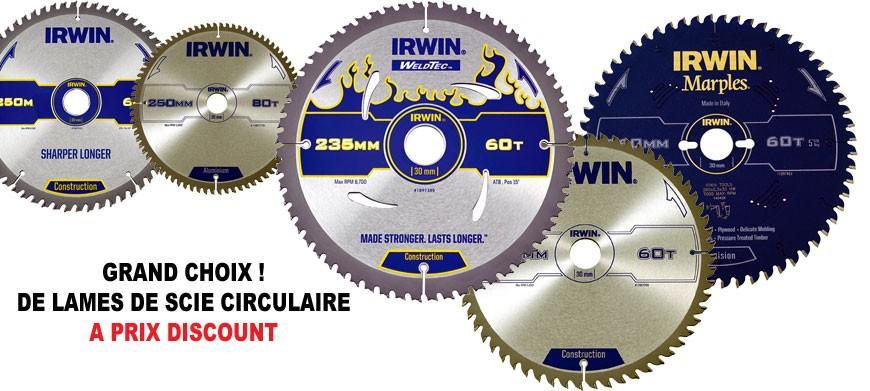 Grand choix de lames de scie circulaire à prix discount
